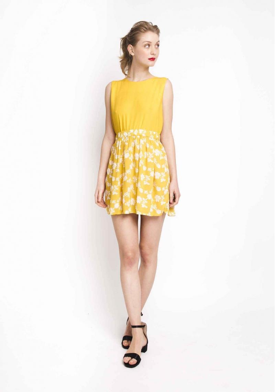 432257422 falda-corta-amarilla-flores (2) - TUL - Tienda online de Moda de ...