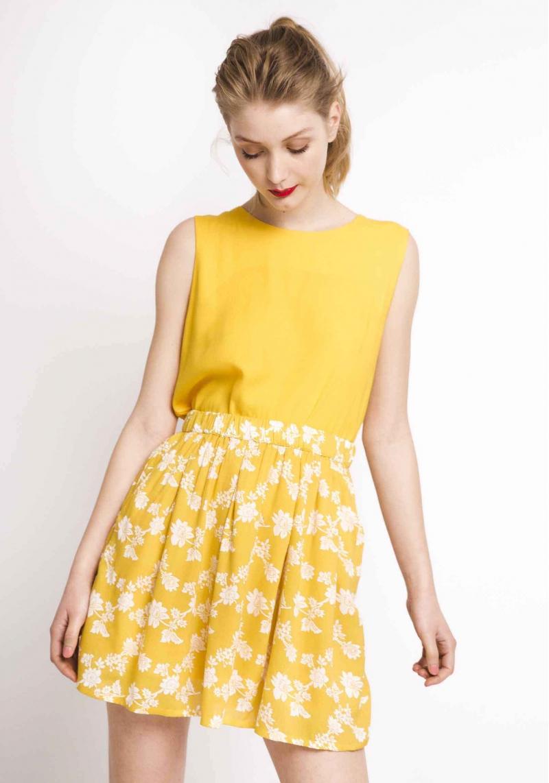 f7ffd0bfd falda-corta-amarilla-flores - TUL - Tienda online de Moda de mujer ...